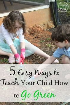 5 Easy Ways to Teach Your Child How to Go Green. Teaching young children how to be good stewards of the environment doesn't have to be complicated. Don't forget to pack the snacks! #mealtimesolutions #earthday #sponsored