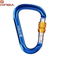 XINDA Brand Professioanl 25KN Load Tension O-Sape Screw Gate Carabiner Buckle Lock Climbing Rock Outdoor Equipment