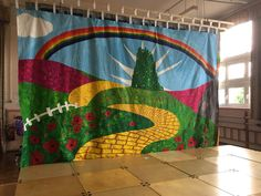 Backdrop painted by us for the school production of The Wizard of Oz