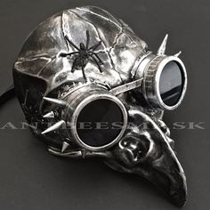 Steampunk Goggles Eagle Devil With Spider Deco Halloween Costume Party Mask