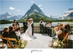 Mountain Wedding at Many Glacier Hotel in Glacier National Park. Photography by Jacilyn M www.jacilynm.com