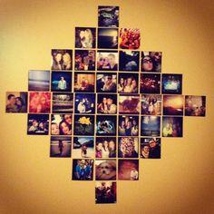 Love the diamond shape of this photo display