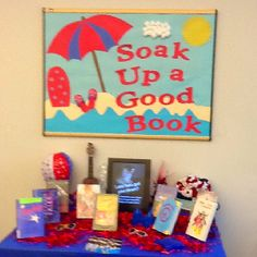 Summer library display for the teen area.