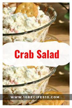 Best Crab Salad Recipe, Sea Food Salad Recipes, Milk Recipes, Cooking Recipes, Oven Recipes, Cooking Tips, Crab Pasta Salad, Lobster Salad, Appetizers