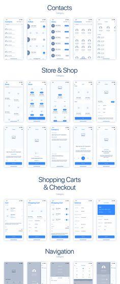 UIXO iOS 11 Wireframe Kit – Designmodo Market – Make Mobile Applications Iphone App Layout, Iphone App Design, Android App Design, Ios App Design, Web Design, Flat Design, App Wireframe, Wireframe Design, Interface Design