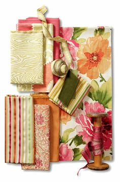 The wood element, cotton, silk, velvet, hemp.  Prints in floras, stripes and wood grains.