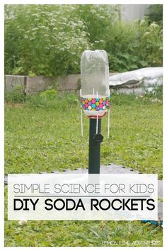DIY Soda Rockets for Kids | The perfect idea for any mad scientist party