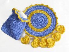 Handmade crochet Soap saver and makeup by modelknitting on Etsy, $10.00