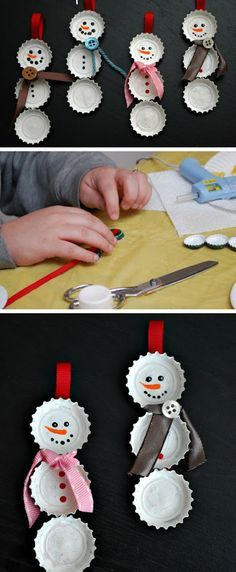 Christmas Crafts decorations Weihnachten Basteln m - christmascrafts Christmas Crafts For Kids To Make, Christmas Decorations For The Home, Christmas Activities, Diy Christmas Ornaments, Homemade Christmas, Simple Christmas, Kids Christmas, Holiday Crafts, Christmas Gifts