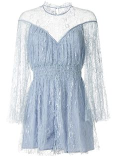 Shop online blue Alice McCall Magicians Daughter embroidered playsuit as well as new season, new arrivals daily.