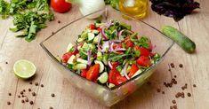 Zeleninový šalát s avokádom Bruschetta, Guacamole, Potato Salad, Detox, Salsa, Mexican, Potatoes, Fit, Ethnic Recipes