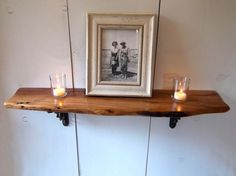 27 Mesquite Shelf with Wrought Iron brackets and by MesquiteThorn, $65.00