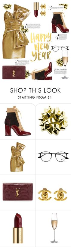 """""""Happy New Year! #68"""" by nausicaa12 ❤ liked on Polyvore featuring Laurence Dacade, Yves Saint Laurent, Ray-Ban, Chanel, Urban Decay and RogaÅ¡ka"""