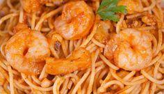 Spaghetti gamberetti e peperoni
