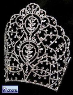 Priestess of India Rhinestone Beauty Pageant Rhinestone Crown Tiara