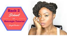 Back to School 2016 Loc Hairstyle Tutorial/Jungle Barbie