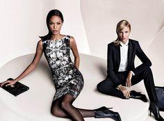 Campañas publicitarias moda otoño invierno 2013 2014 - Joan Smalls - Anja Rubik - Hugo Boss