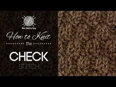 The Check Stitch :: Knitting Stitch #206 | NEW STITCH A DAY