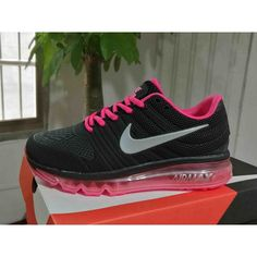 cbe37887259 Buy Nike Air Max 2017 - Cheap Nike Air Max 2017 Womens Black Peach Running  Shoes