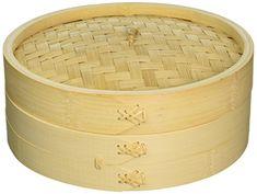 Cook Pro 353 Asian Bamboo Steamer with Lid 10 Wooden >>> Read more @