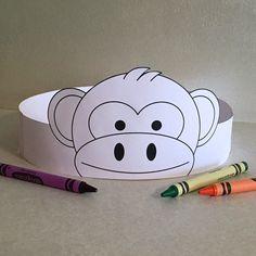 Corona de papel de mono de COLOR su propia imprimible