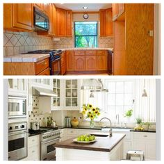 Kitchen idea, would need to steal some space from adjoining room