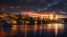 .chronicles of the sunset : at Charles Bridge by Pavel Ivanov