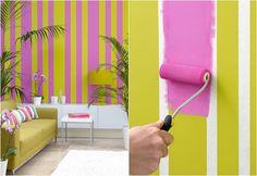 Cuando quieras pintar de dos #colores o hacer una figura especifíca, coloca sobre la pared cinta de papel, para que logres un acabado sin pasarte al otro #color. #ColoresQueCubrenTodo