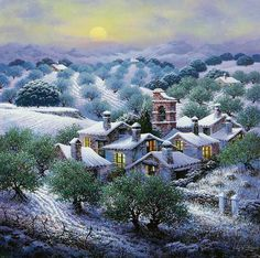 A fun image sharing community. Explore amazing art and photography and share your own visual inspiration! Spanish Painters, Spanish Artists, Pintura Exterior, Creation Photo, Snow Pictures, Montage Photo, Photocollage, Hyperrealism, Naive Art