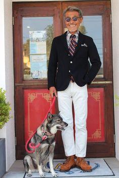 初ブレザーの方ならネイビー、ネイビーお手持ちの方ならミドルグレー など如何でしょう! - boysmarket Old Man Fashion, Military Fashion, Fashion Pants, Mens Fashion, Ivy Style, Just Style, Men's Style, White Chinos, White Pants