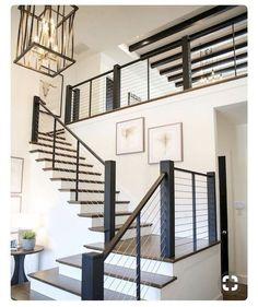 33 Ultimate Farmhouse Staircase Decor Ideas And Design Stair Railing Ideas Decor design FARMHOUSE ideas Staircase Ultimate Home Design, Home Interior Design, Interior Stairs, Design Ideas, Design Inspiration, Farmhouse Stairs, Farmhouse Ideas, Farmhouse Chic, Country Farmhouse