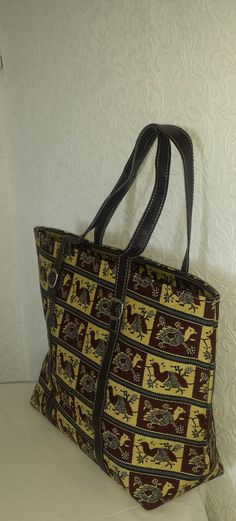 Sturdy Fabric Print Tote Bag by VickysBeauty on Etsy