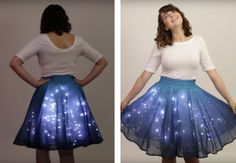 """""""Twinkling Stars Skirt"""" Adorned with 250 LED Lights Makes You Sparkle Like the Night Sky - My Modern Met"""