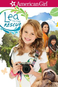 American Girl: Lea to the Rescue Movie Poster - Maggie Elizabeth Jones, Laysla De Oliveira, Storm Reid  #AmericanGirl, #LeaToTheRescue, #MaggieElizabethJones, #LayslaDeOliveira, #StormReid, #NadiaTass, #KidsFamily, #Art, #Film, #Movie, #Poster