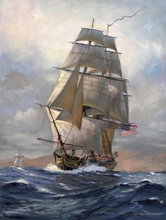 US Frigate President by Patrick O'Brien (American Society of Marine Artists)