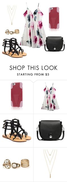 """""""Flower Dress"""" by empirecase ❤ liked on Polyvore featuring Mystique, rag & bone and Jules Smith"""