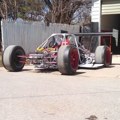This is the baddest go cart I've ever seen-----twin turbo v8 powered single seat go kart built by LoveFab Inc - Promoted by The Fab Forums