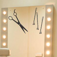 Hair Styling Salon Vinyl Decals