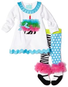 Mud Pie Baby-girls Infant Zebra Tunic and Tight Set
