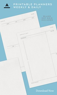 Plan Ahead / Keep Track - Day Schedule, Daily Planners, Design Shop, Track, Typography, Dots, Bullet Journal, Printables, Graphic Design