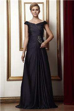 Natural Sleeveless Off-the-Shoulder Elegant & Luxurious Zipper-up Floor-Length Blue All Sizes Dress
