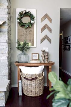 Rustic Wall Decoration Ideas Best Of Rustic Living Room Wall Decor Ideas 23 Easy Home Decor, Cheap Home Decor, Modern Farmhouse Living Room Decor, Rustic Farmhouse, Rustic Homes, Farmhouse Interior, Rustic Kitchen, Farmhouse Ideas, Modern Living