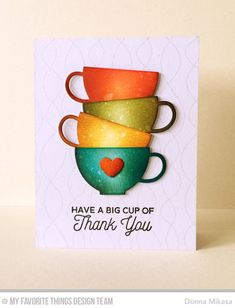 Cup of Tea Stamp Set, Whimsical Waves Background, Tea Party Die-namics - Donna Mikasa  #mftstamps