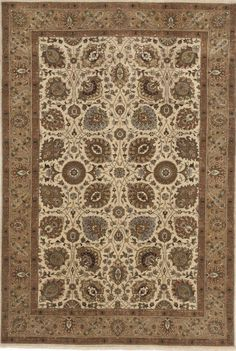 """Hand-Knotted Indo-Persian Rug- 5'10""""x 8'8"""" on Chairish.com"""