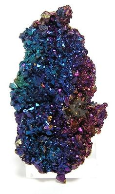 Iridescent Chalcopyrite crystal cluster  (Peacock Ore) / Reynolds County, Missouri