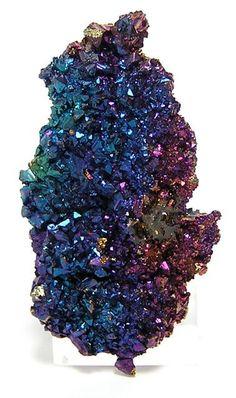 Iridescent Chalcopyrite crystal cluster  (Peacock Ore) / Reynolds County, Missouri