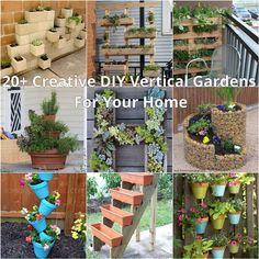 20+ Creativo DIY Jardines verticales para su hogar