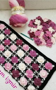 White crochet top with voluminous multi-colored flowers. Ready to ship Crochet Flower Patterns, Baby Knitting Patterns, Crochet Motif, Crochet Shawl, Diy Crochet, Crochet Flowers, Crochet Stitches, Crochet Doilies, Crochet Top