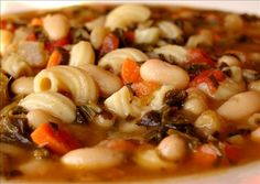 Hearty Tuscan White Bean Soup.This is a really easy Tuscan style white bean and spinach soup. I prefer it meatless, but mini meatballs can be added.