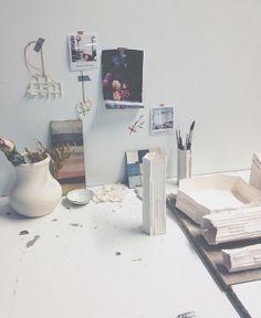 my workspace | @whiteatelierbcn on Instagram